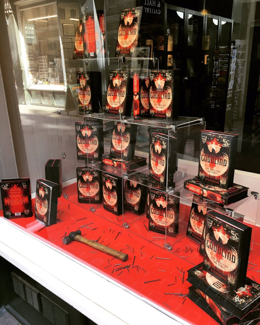 Goldsboro Books window display June 17 Book of the Month