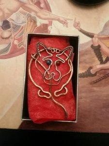 Trickster cloak pin from Sarah_Ida
